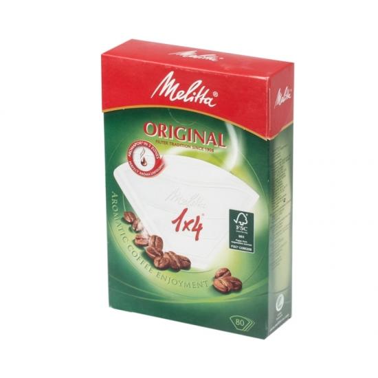 Фильтры бумажные Melitta для заваривания кофе 1х4/80, белые