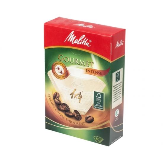 Фильтры бумажные Melitta для заваривания кофе 1х4/80, Гурмэ Интенс