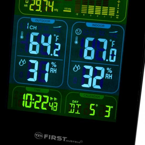Метеостанция First FA-2460-3 Черная