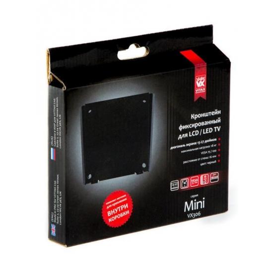"VITAX Кронштейн VX 306, Mini LED/LCD тв 13""-27"",(до 18кг)black"