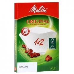 Фильтры бумажные Melitta для заваривания кофе 1х2/40, белые