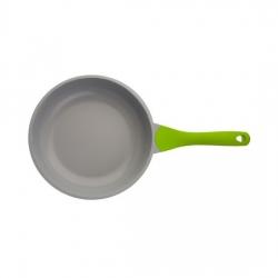 Сковорода BIOSTAL Bio-FP-26 салатовый/серый 26 см