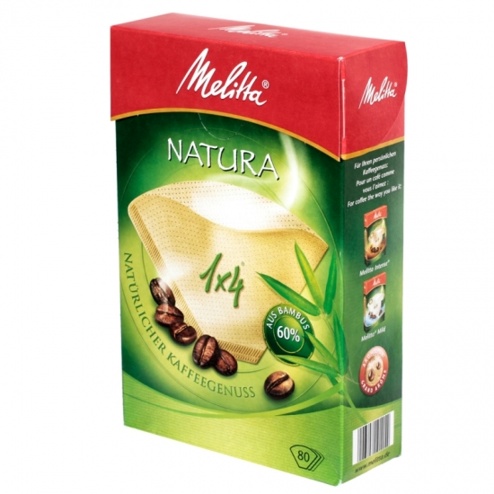 Фильтры бумажные Melitta для заваривания кофе 1х4/80, натура