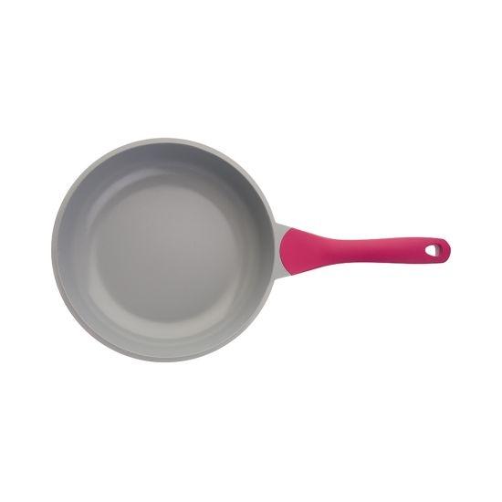 Сковорода BIOSTAL Bio-FP-28 лиловый/серый 28 см