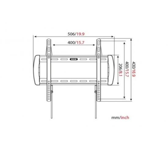"VITAX Кронштейн VX 210F, Armstrong LED/LCD тв 27""-42"",(до 35кг)black"