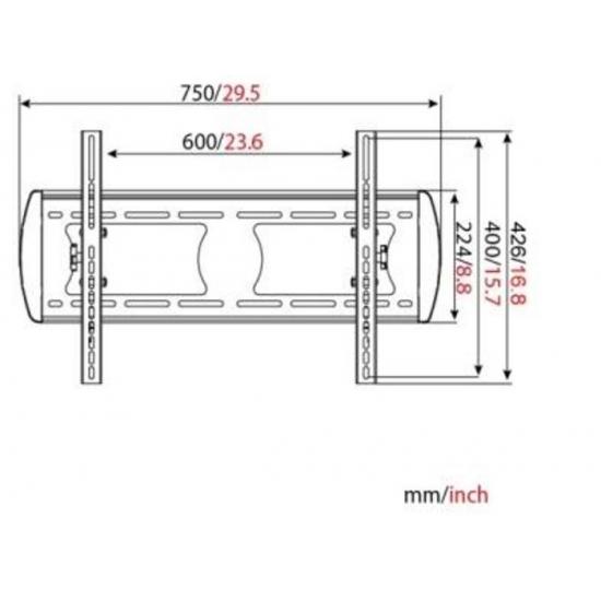 "VITAX Кронштейн VX 320T, Standard LED/LCD тв 32""-55"",(до 56кг)black"