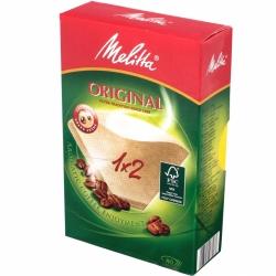 Фильтры бумажные Melitta для заваривания кофе 1х2/80, коричневые