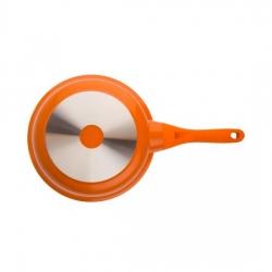 Сковорода BIOSTAL Bio-FP-28 оранжевый/бежевый 28 см